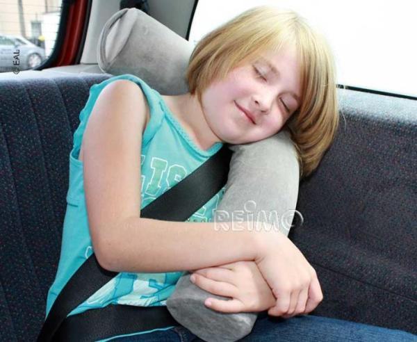 Travel kussen voor kinderen grijs advitek mobilehome systems a m s